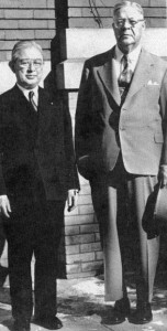 Komatsu (left) meets with President Grier during his 1940 visit to the U.S. to attend the New York World's Fair.