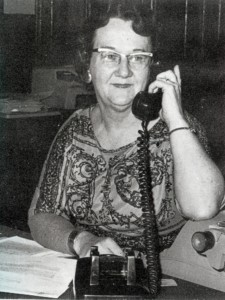 Eileen Loya in the president's office in 1961.